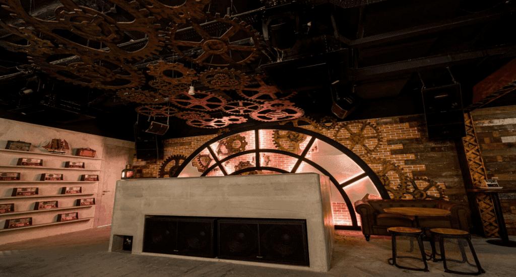 rails bar interior