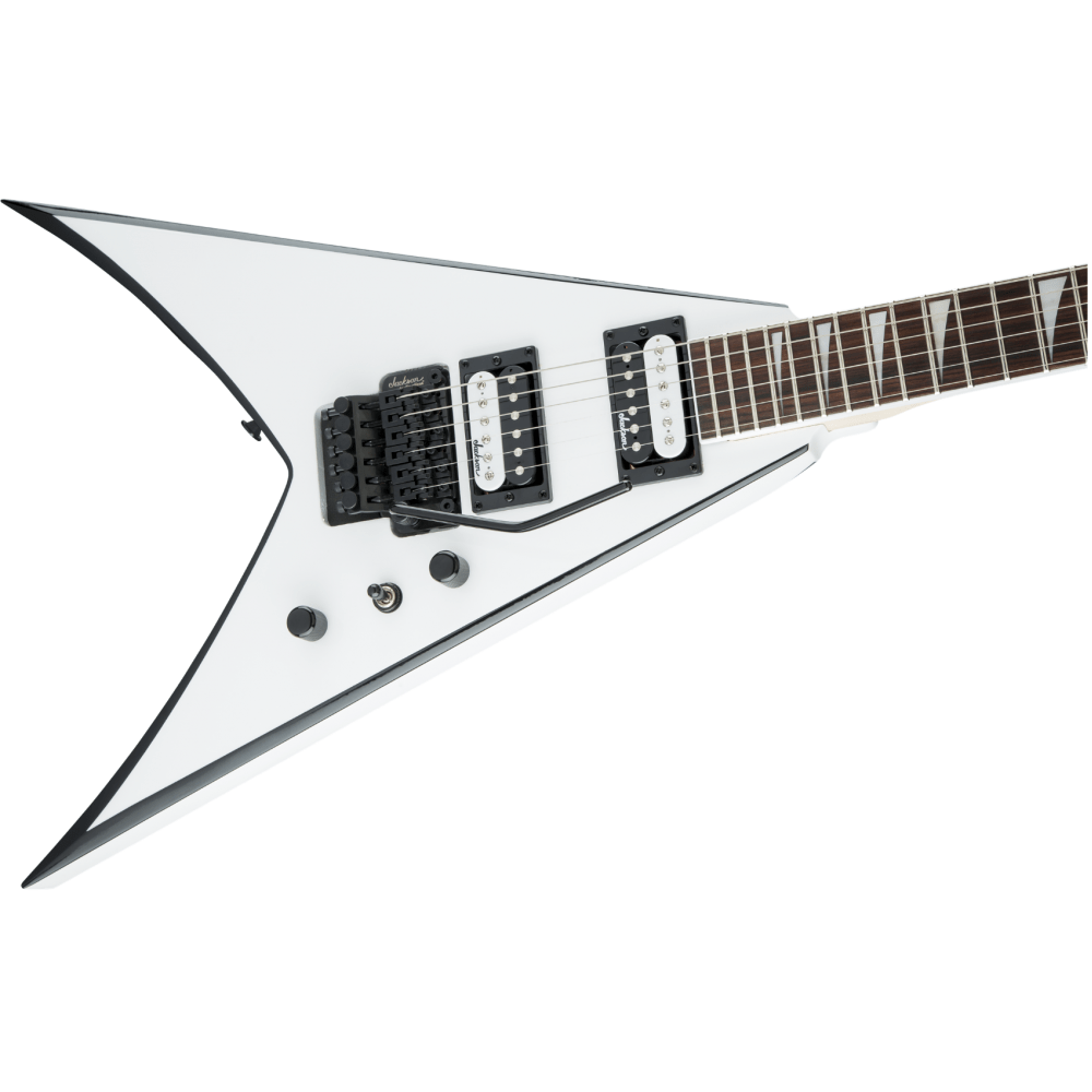 Jackson JS32 King V Black with White Bevels Electric