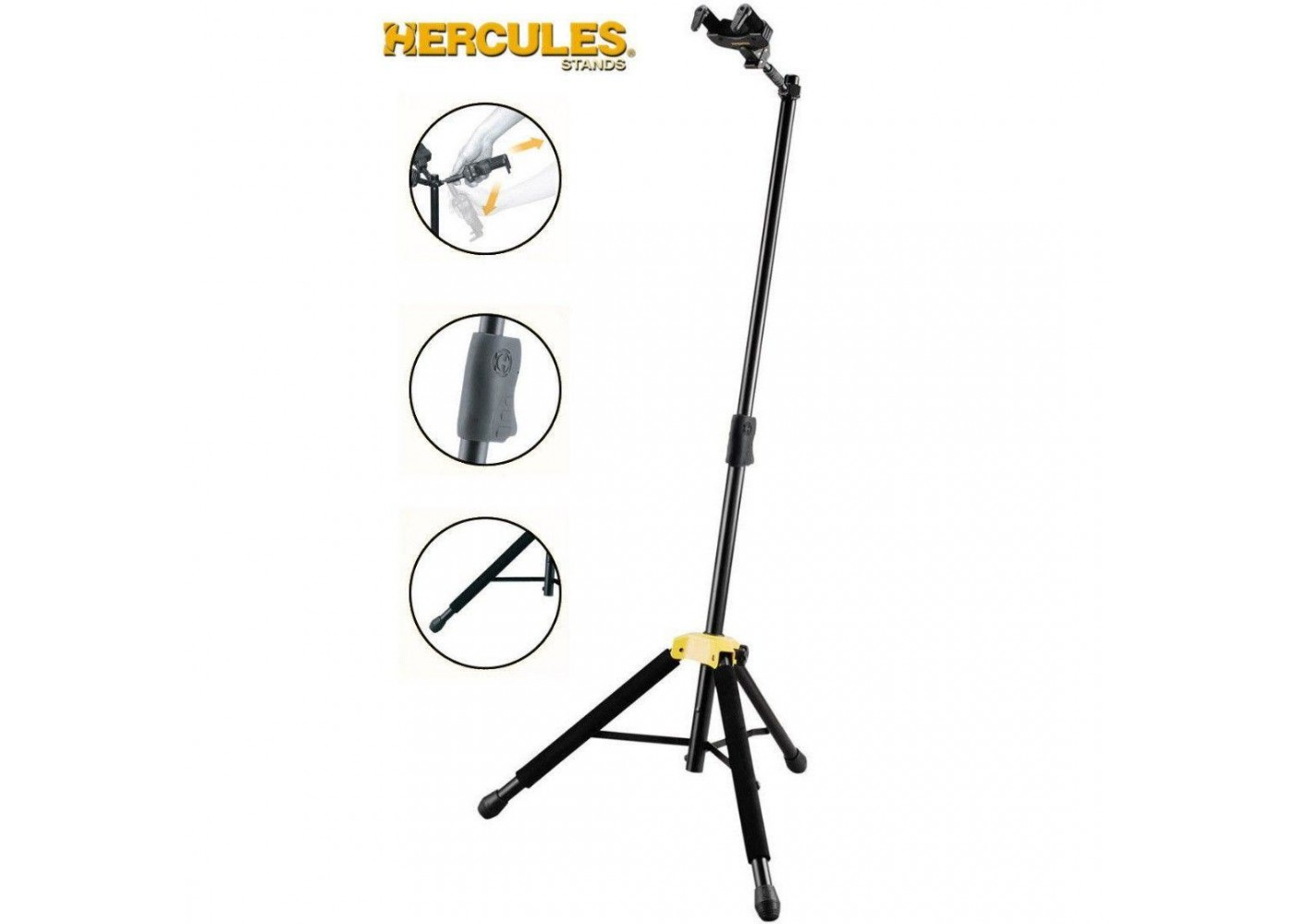 Hercules Model Gs415b Tripod Single Guitar Stand Auto Grip