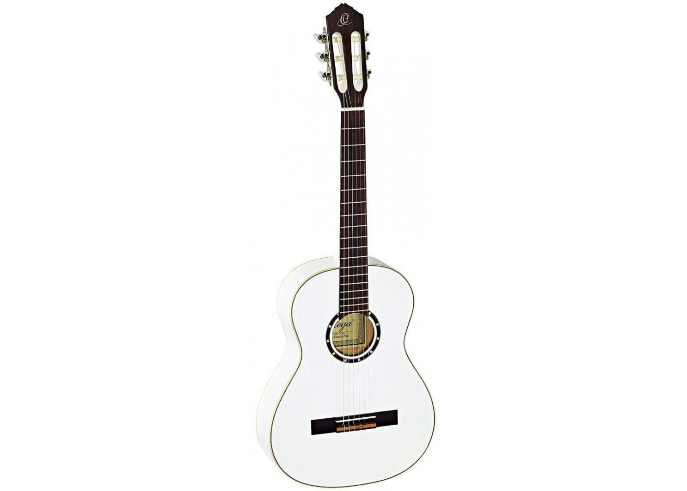 Ortega R121 3 4 Wh White 3 4 Size 6 String Classical Guitar