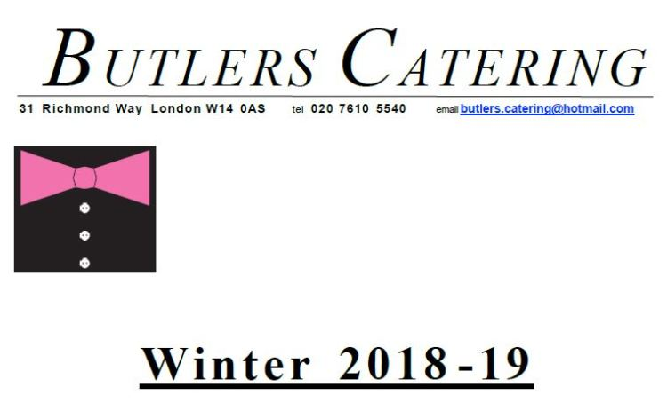 Butlers Catering UK Winter 2018 - 2019