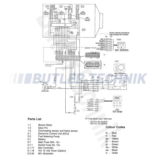small resolution of  eberspacher airtronic heater 801 temperature controller with diagnostic 80110003