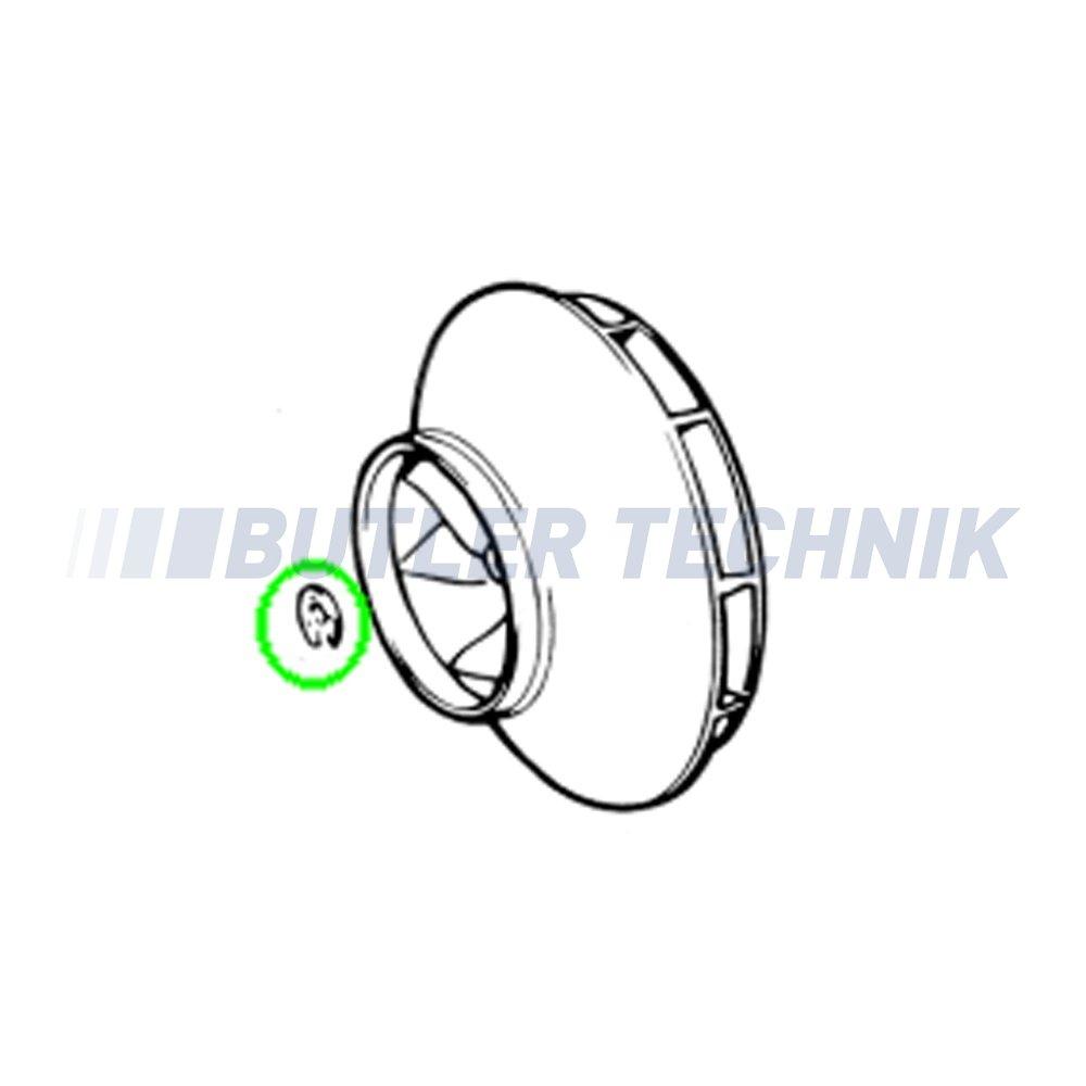 Eberspacher D8LC heater motor fan retaining circlip D8LC