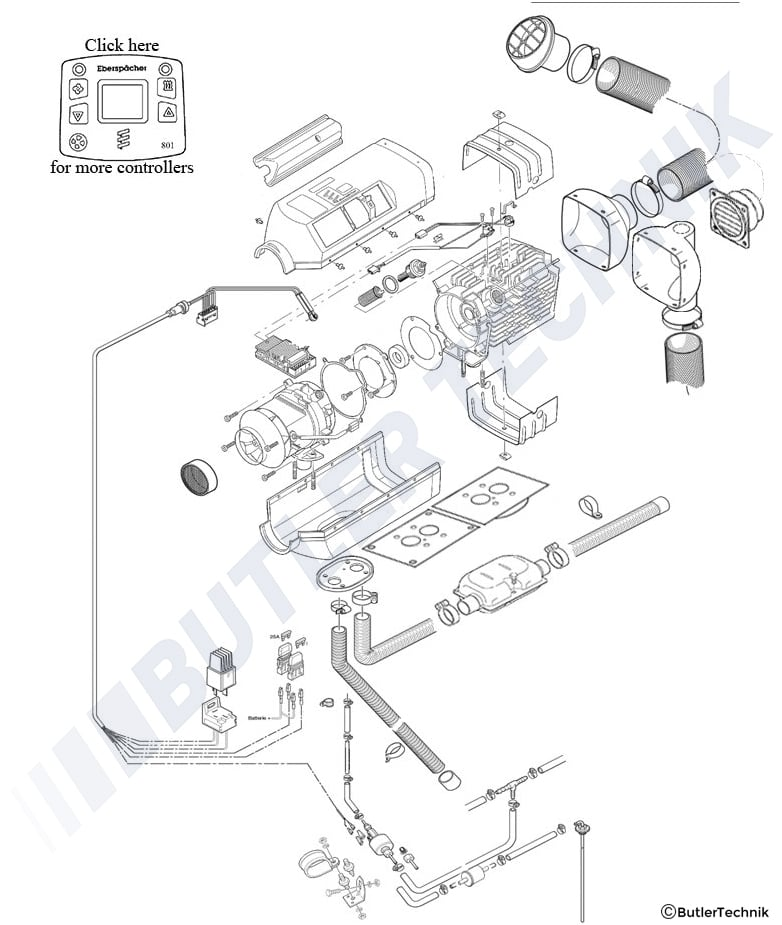 Espar Airtronic D2 Parts Manual