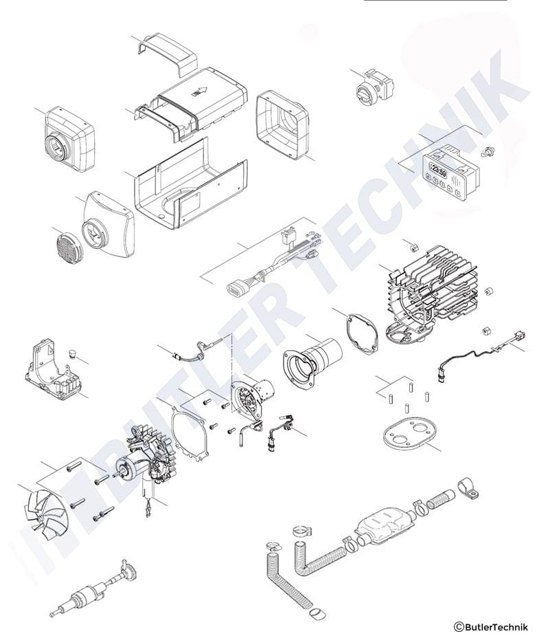 Webasto Air Top 2000 STC Air Heater Kits & Repair Parts