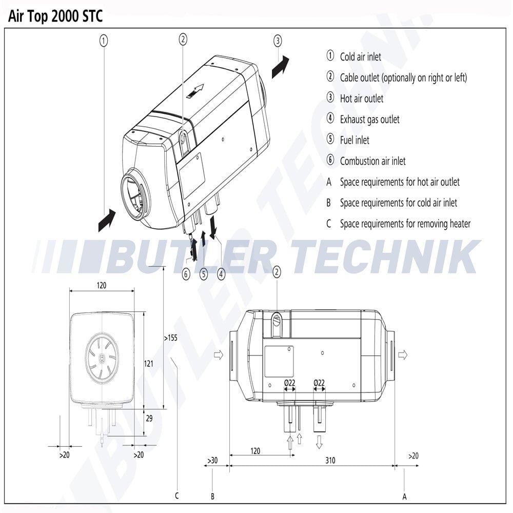 medium resolution of webasto heater air top 2000 st c 24v 9031126b 9034319b 4111386b blue cool webasto manual webasto