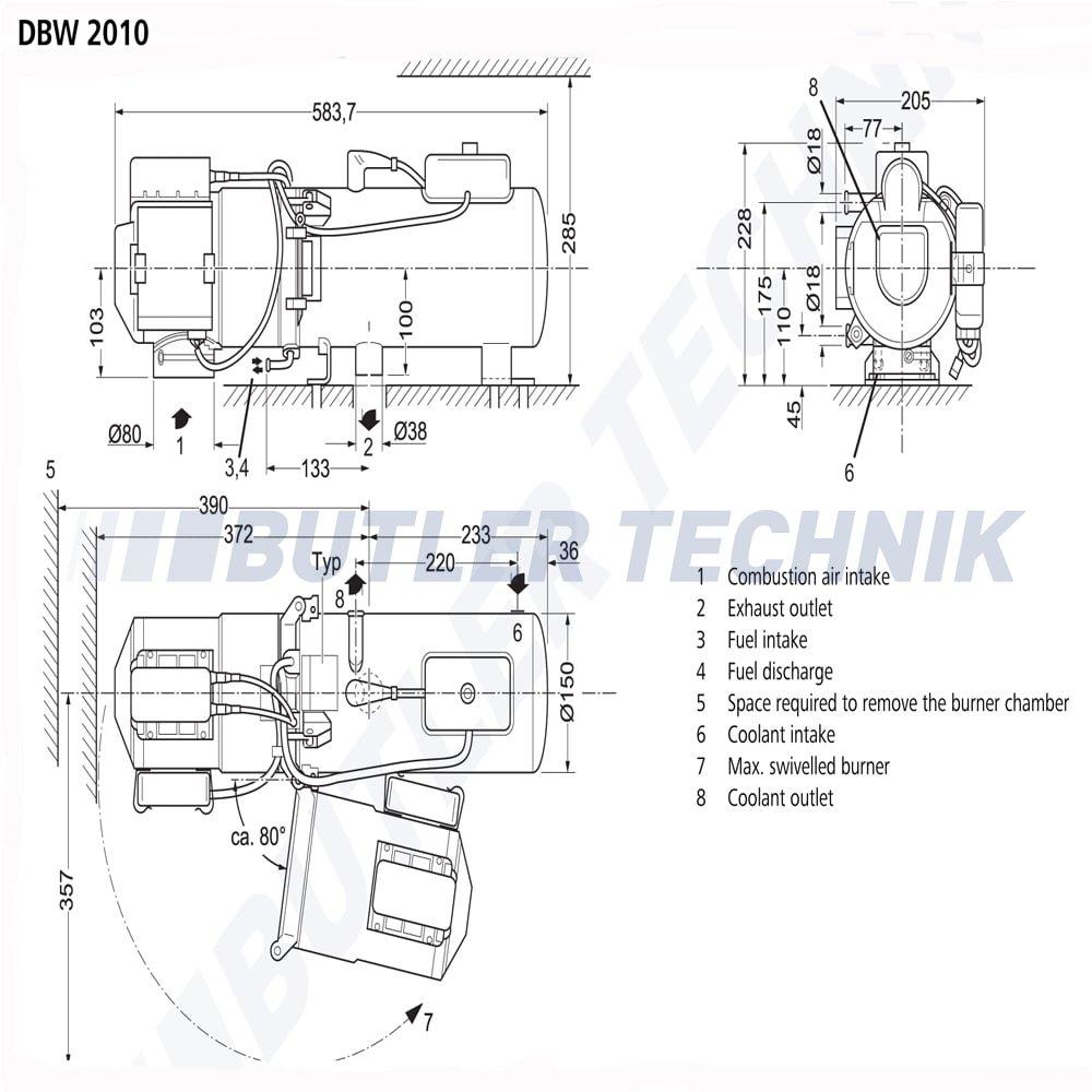 hight resolution of  webasto dbw 2010 11 6kw water heater 24v 9023679a