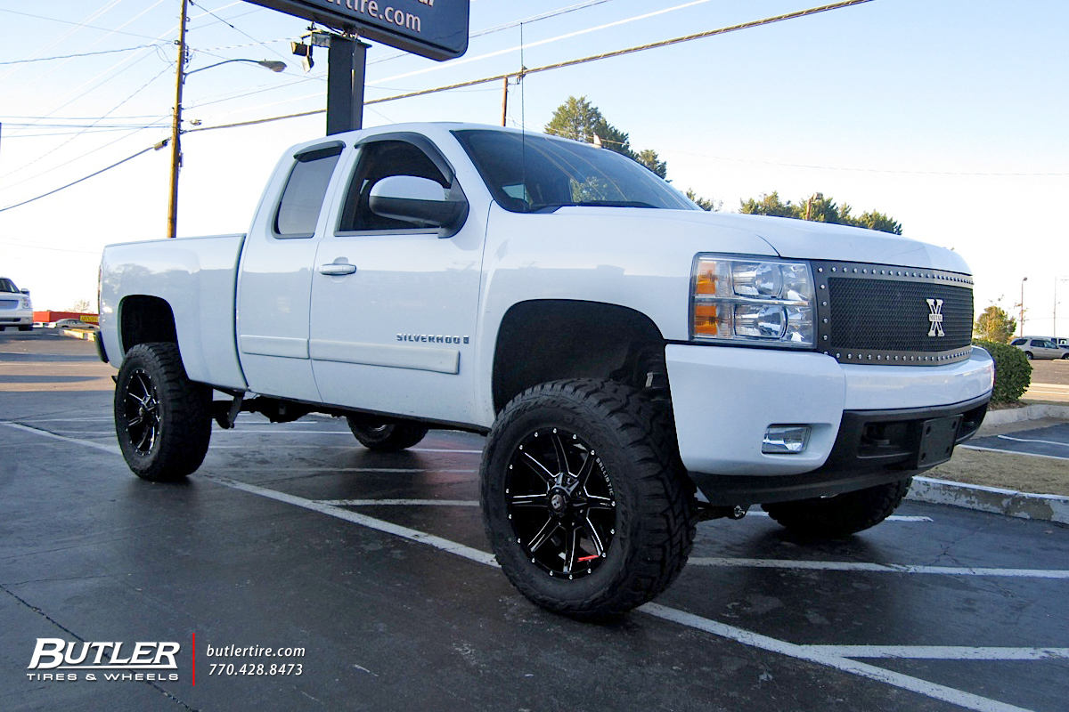 hight resolution of chevrolet silverado with 20in ballistic razorback wheels
