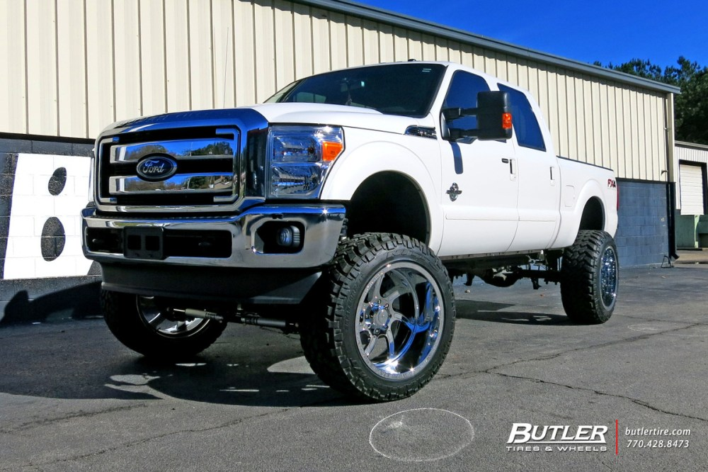 medium resolution of ford f350 with 24in forgiato azioni wheels