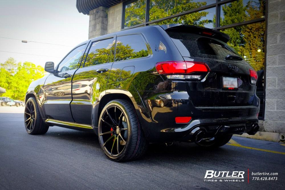medium resolution of jeep cherokee srt 8 with 22in savini bm12 wheels