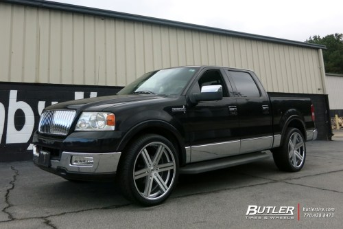 small resolution of lincoln mark lt with 24in black rhino lataba wheels