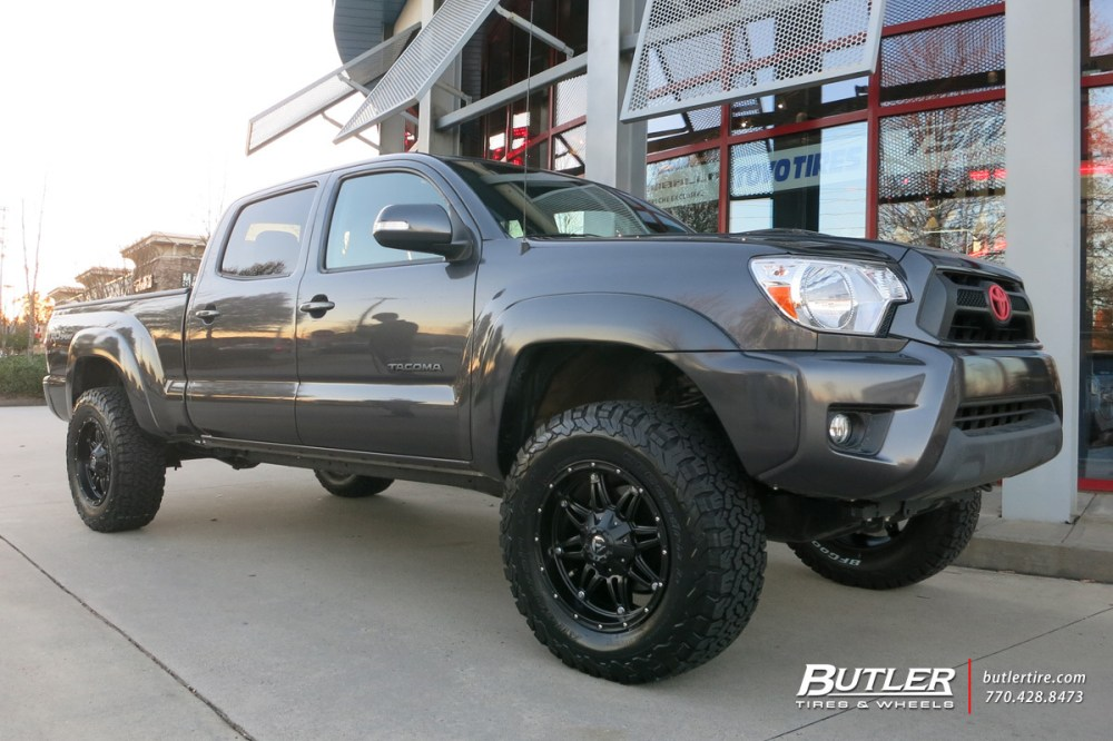 medium resolution of toyota tacoma with 18in fuel hostage wheels