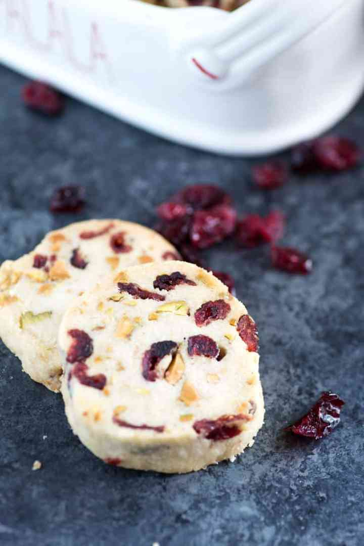 Two Pistachio Cranberry Shortbreads
