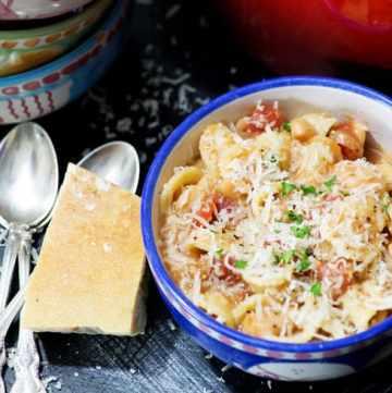 A bowl of Pasta e Fagioli