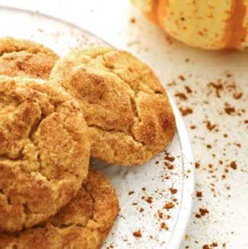 Pumpkind Snickerdoodles on a plate