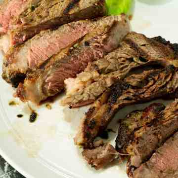 A platter of Herb Marinated Steak