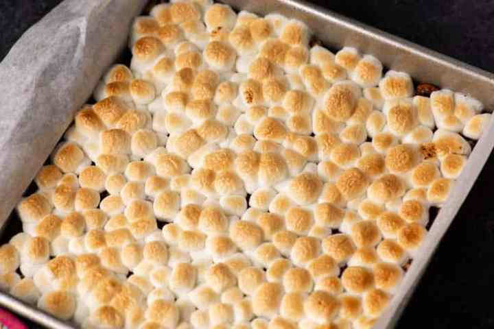 A pan of S'more Bars