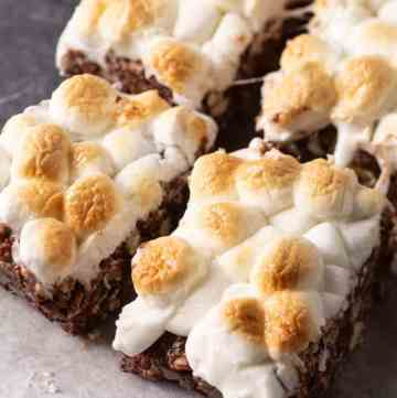 S'more dessert bars on parchment paper