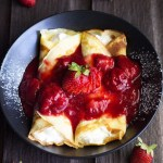 Strawberry Cream Filled Crepes | www.butterandthings.com