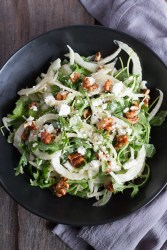 Pear-Fennel-Arugula-Salad | butterandthings.com