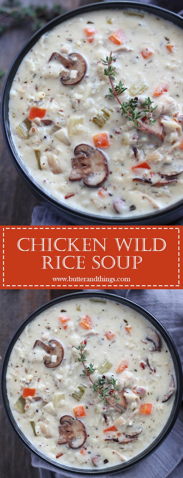 Chicken-Wild-Rice-Soup-Pin | www.butterandthings.com