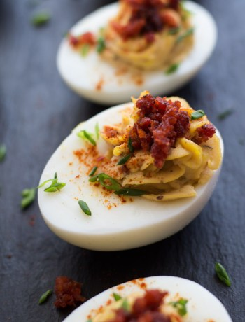 Chipotle-Deviled-Eggs-with-Chorizo | www.butterandthings.com