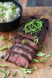 Grilled-Flat-Iron-Steak-Asian-Marinade | www.butterandthings.com