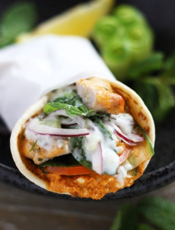 Chicken-Gyro-With-Spicy-Feta | www.butterandthings.com