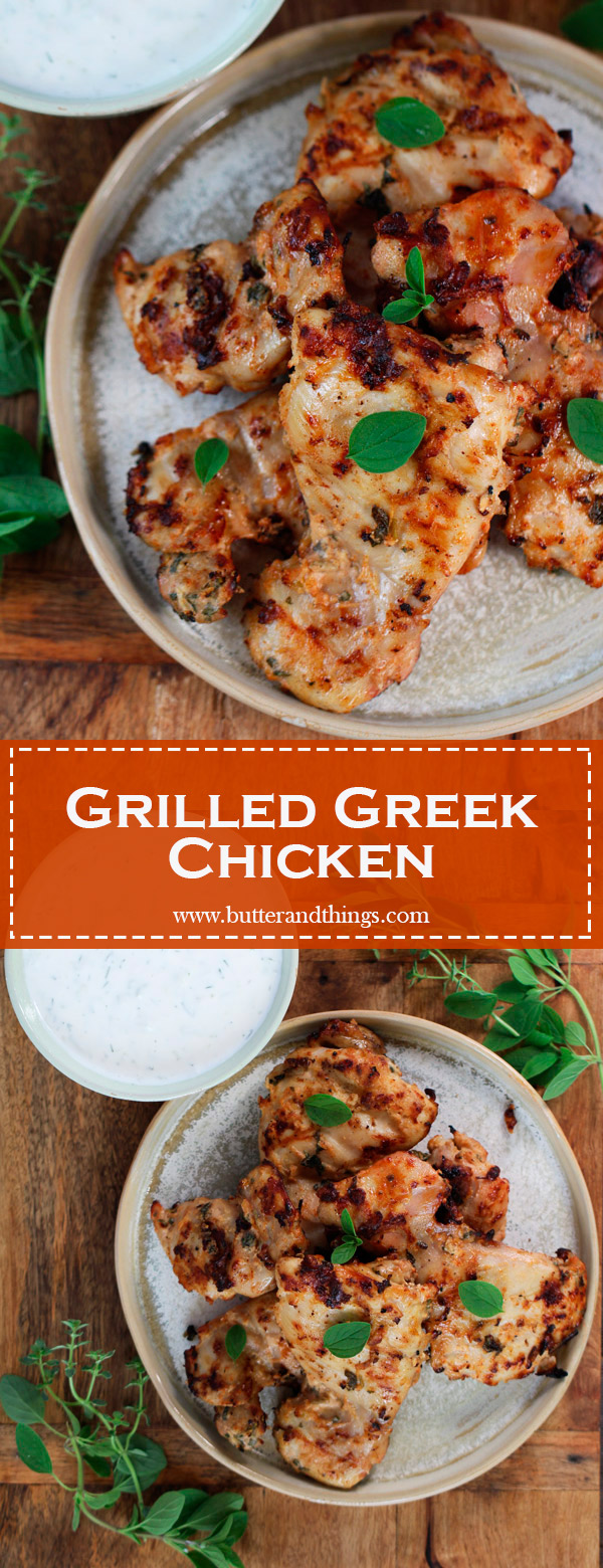 Grilled-Greek-Chicken-Pin | www.butterandthings.com