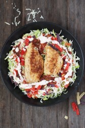 Chopped-Salad-With-Fish (Rubio's Copycat)