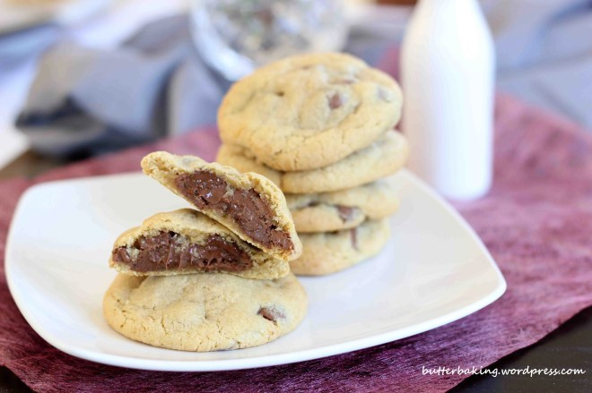 Nutella filled chocolate chip cookies | Butter Baking