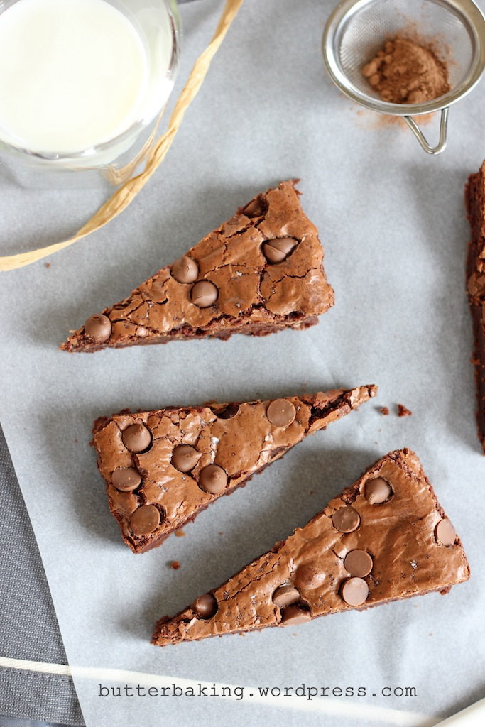 Fudgy Chocolate Chip Brownies | Butter Baking