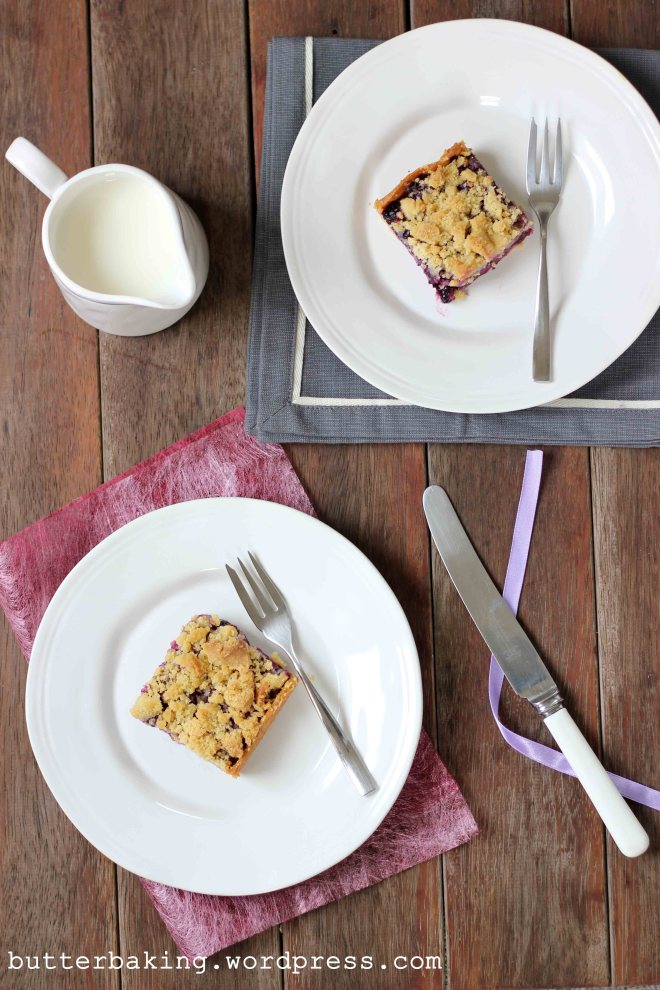 Blueberry Crumble Pie Bars | Butter Baking