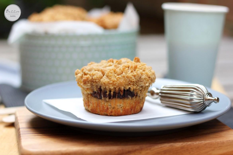 Nutella stuffed coffee cake muffins | Butter Baking