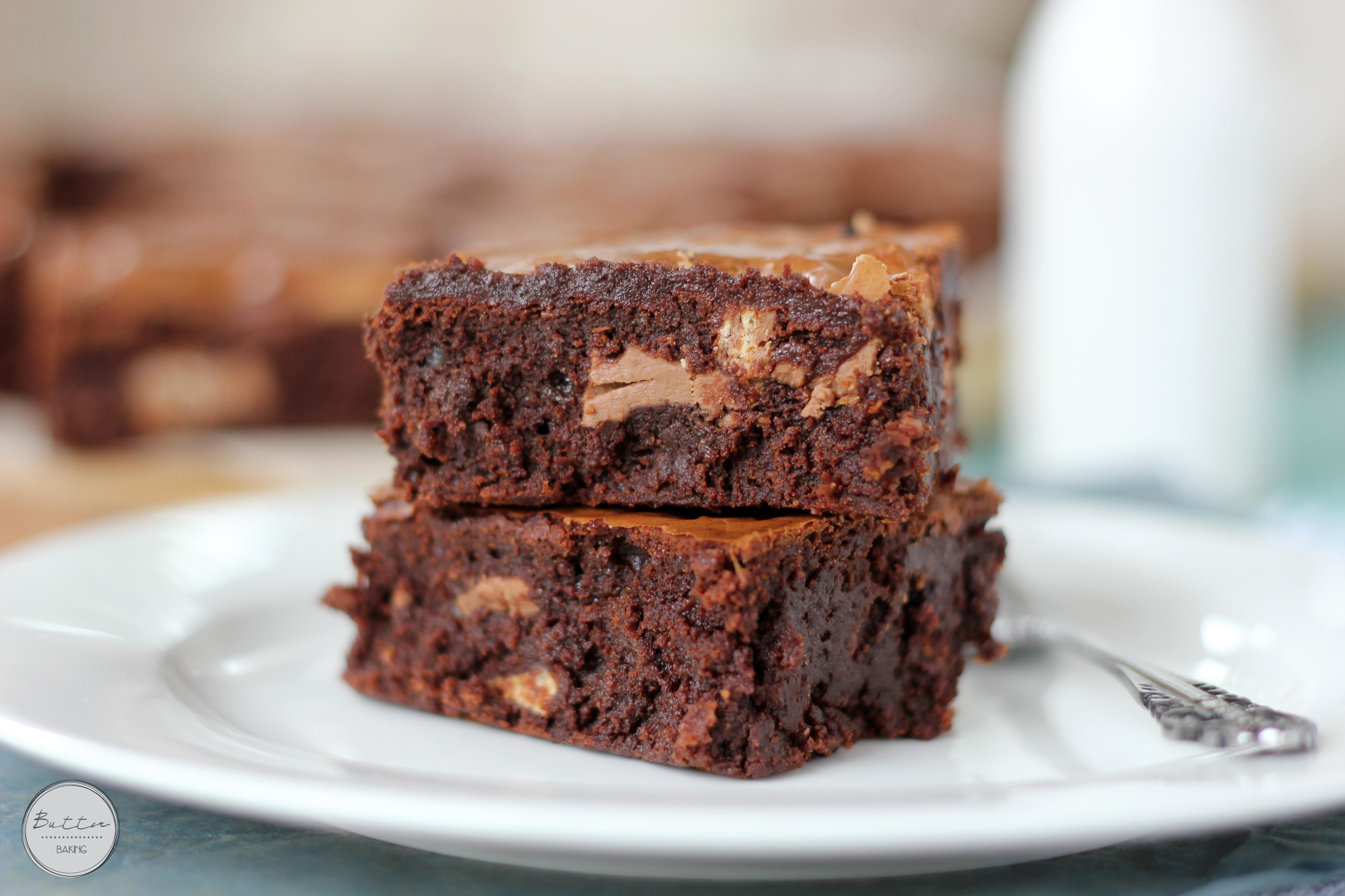 Kit Kat Chunk Brownies Butter Baking