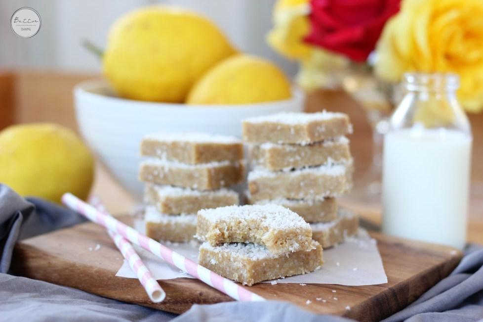 Lemon coconut bars   Butter Baking