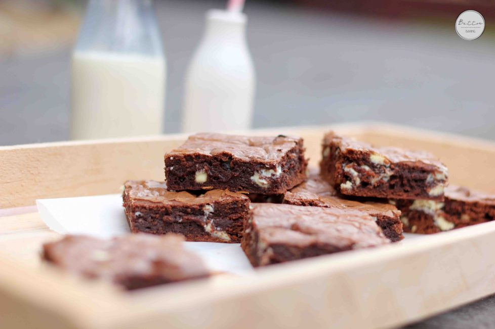 White Chocolate Chip Easy Nutella Brownies