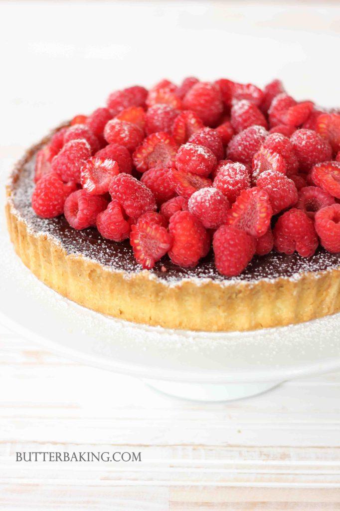 Chocolate Truffle and Raspberry Tart | Butter Baking