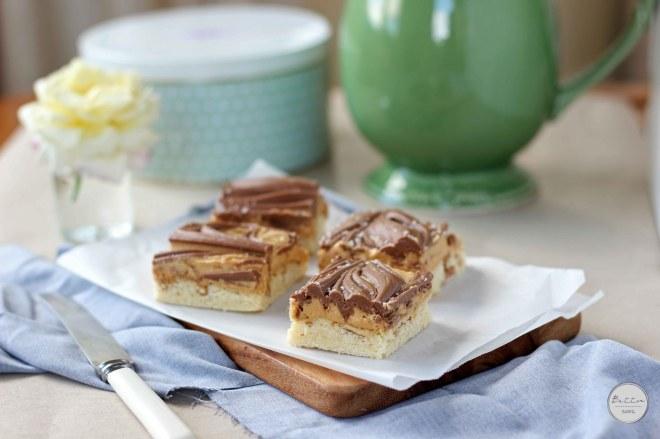 Peanut Butter Pretzel tagalong Bars | Butter Baking