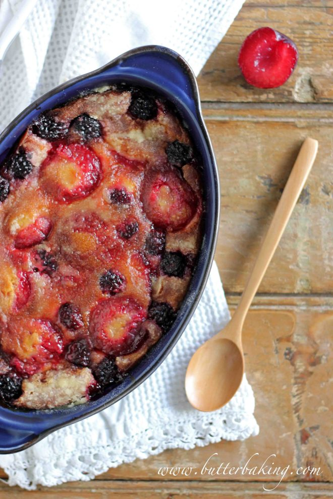 Plum and Blackberry Clafoutis | Butter Baking