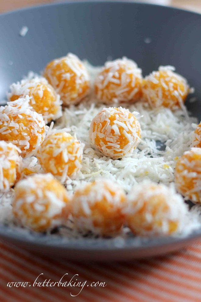Apricot and Coconut Balls | Butter Baking