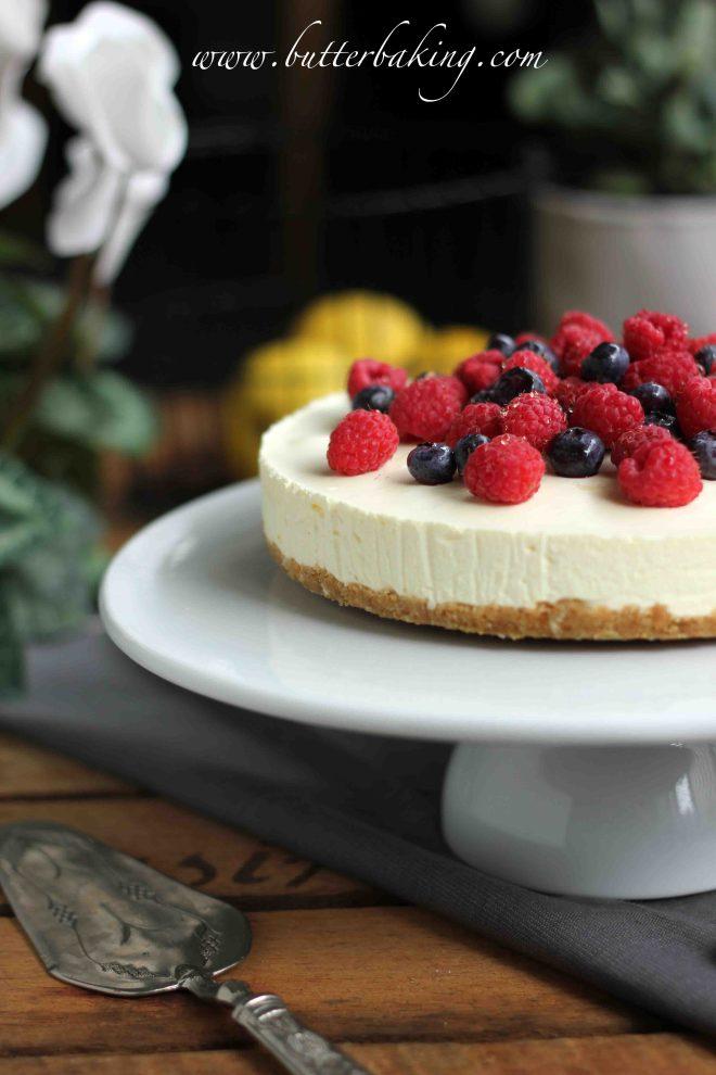 Lemon Berry No-Bake Cheesecake | Butter Baking
