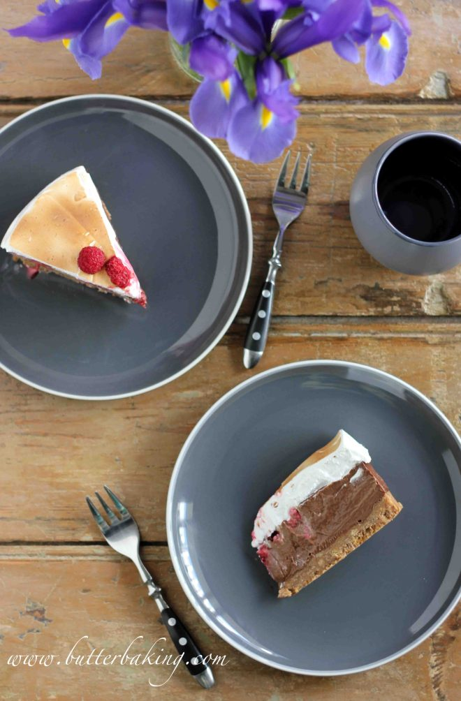 Raspberry and Chocolate Cremeux S'mores Gateau | Butter Baking