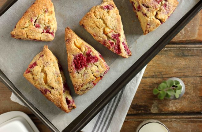 Raspberry and Peach Scones | Butter Baking
