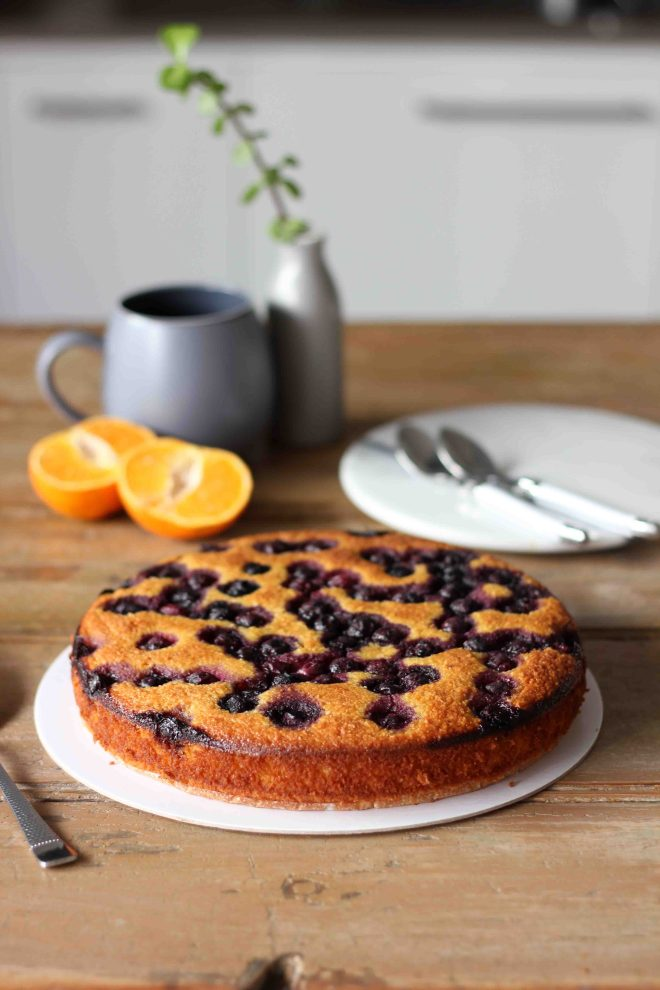 Flourless Mandarin Almond And Blueberry Cake Er Baking