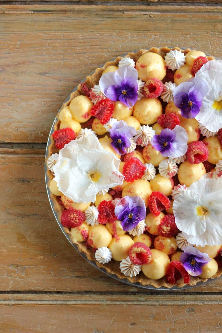 Lemon Meringue and Raspberry Tart   Butter Baking