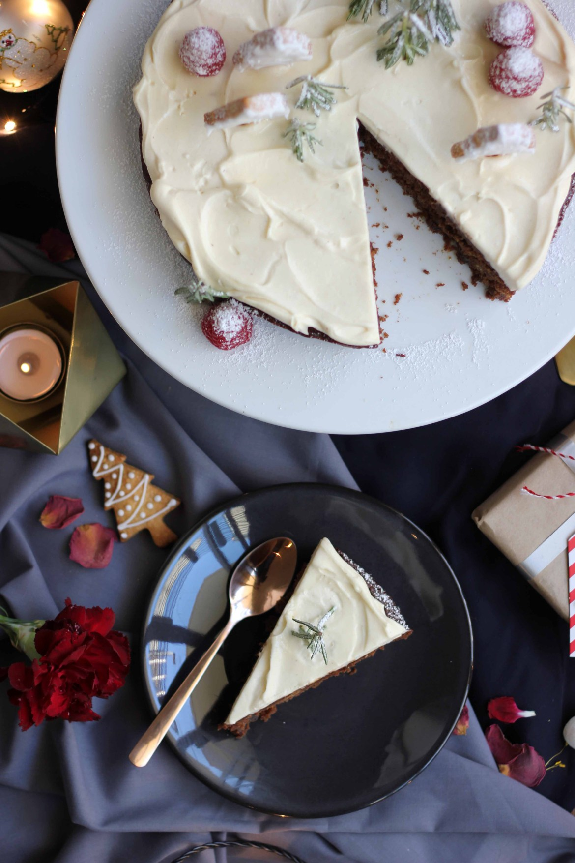 Christmas Cake with Eggnog Cream and Christmas Cookies | Butter Baking