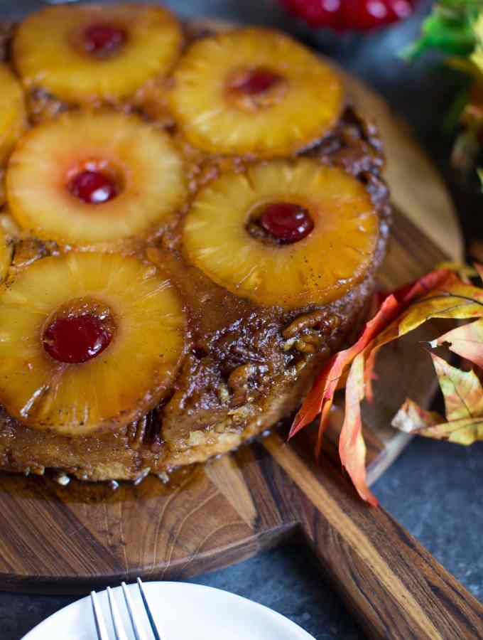 Brown Butter Pineapple Upside-Down Cake