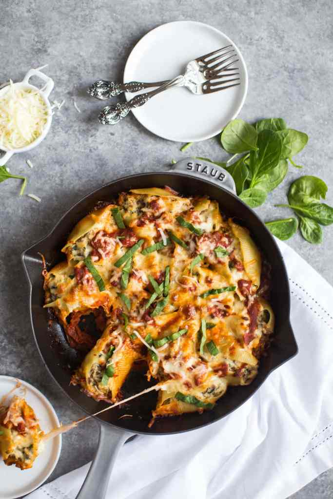 Sausage and Spinach Stuffed Shells