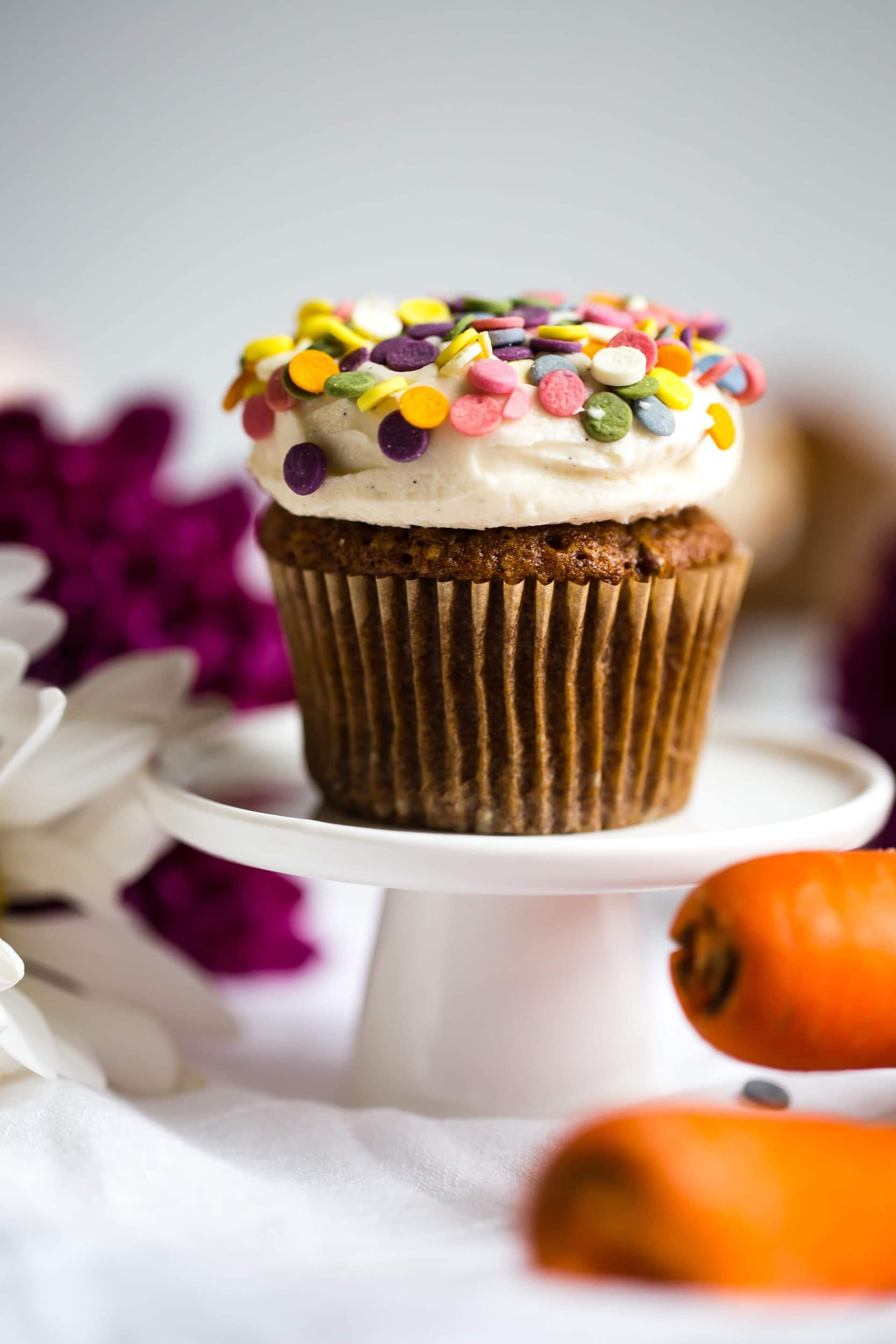Carrot Cake Cupcakes With Tahini Cream Cheese Frosting Butter Be Ready